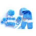Шапка шарф голубой