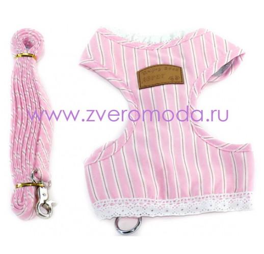 Шлейка-желет Розова